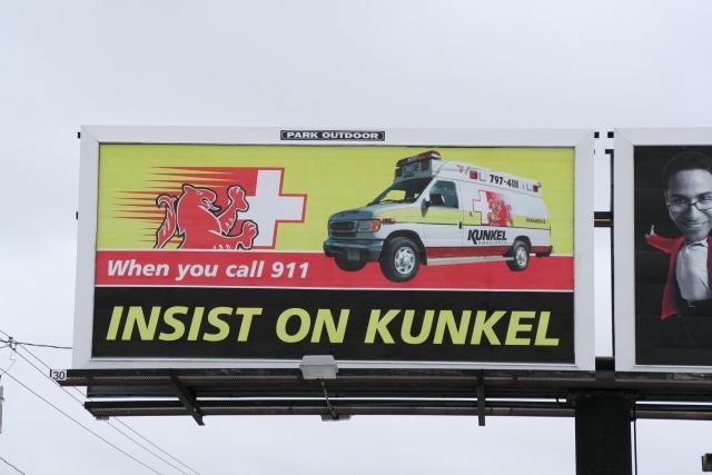Utica ambulance billboard